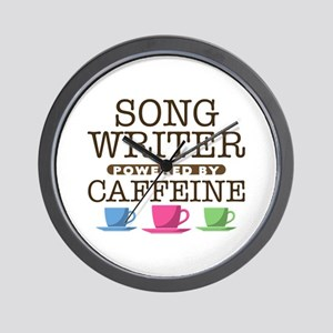 Song Writer Powered by Caffeine Wall Clock