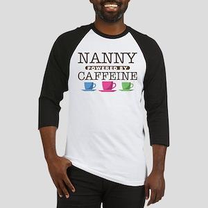 Nanny Powered by Caffeine Baseball Jersey