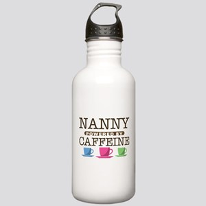 Nanny Powered by Caffeine Stainless Water Bottle 1