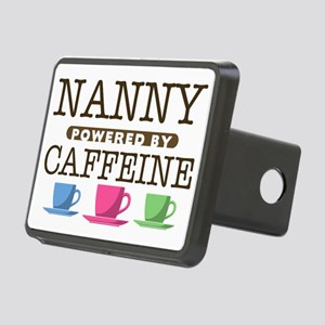 Nanny Powered by Caffeine Rectangular Hitch Cover