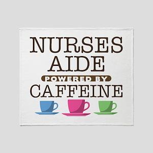 Nurses Aide Powered by Caffeine Stadium Blanket