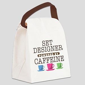 Set Designer Powered by Caffeine Canvas Lunch Bag