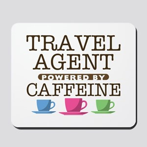 Travel Agent Powered by Caffeine Mousepad