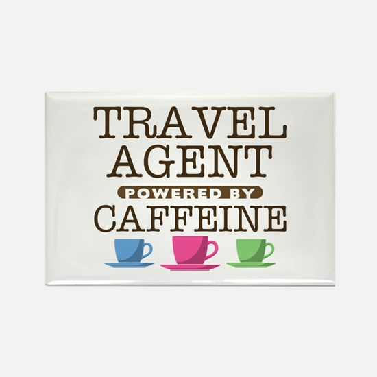 Travel Agent Powered by Caffeine Rectangle Magnet