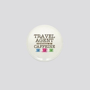Travel Agent Powered by Caffeine Mini Button