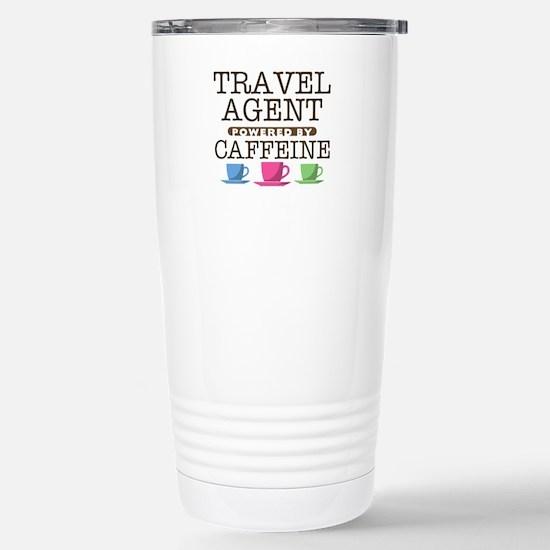 Travel Agent Powered by Caffeine Ceramic Travel Mu