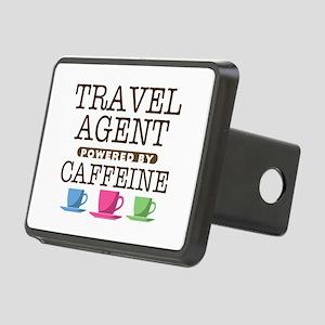 Travel Agent Powered by Caffeine Rectangular Hitch