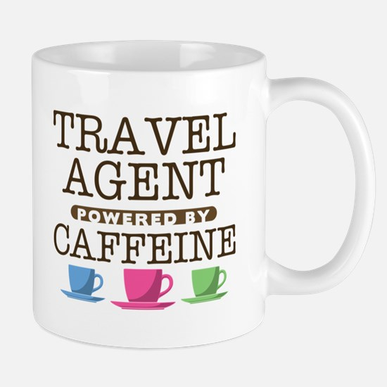 Travel Agent Powered by Caffeine Mug
