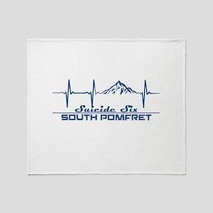 Suicide Six - South Pomfret - Verm Throw Blanket