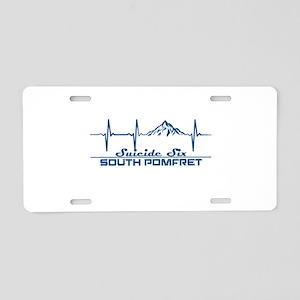 Suicide Six - South Pomfr Aluminum License Plate