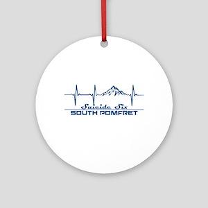 Suicide Six - South Pomfret - Ver Round Ornament