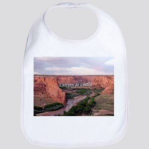 Canyon de Chelly at sunset (caption) Bib
