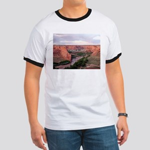 Canyon de Chelly at sunset (caption) T-Shirt