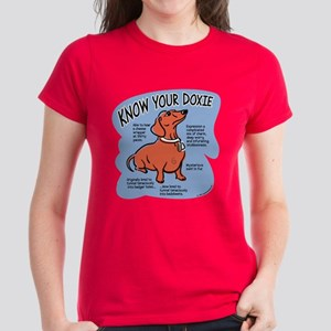 Know your dachshund Women's Dark T-Shirt