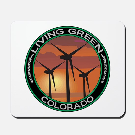 Living Green Colorado Wind Power Mousepad