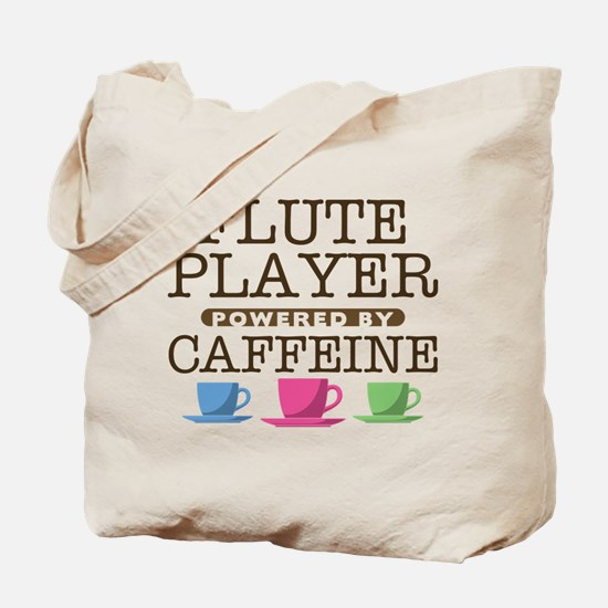 Flute Player Powered by Caffeine Tote Bag