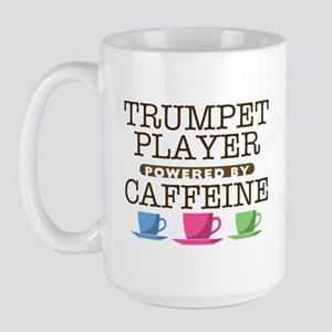 Trumpet Player Powered by Caffeine Large Mug