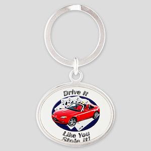 Mazda MX-5 Miata Oval Keychain
