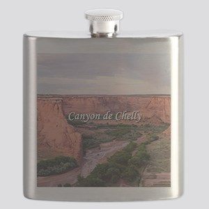 Canyon de Chelly at sunset (caption) Flask