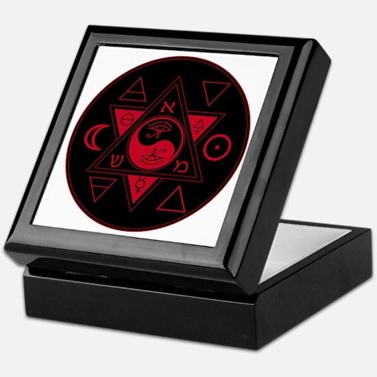 New Hermetics Red on Black Keepsake Box