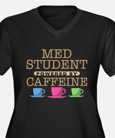 Med Student Powered by Caffeine Women's Dark Plus