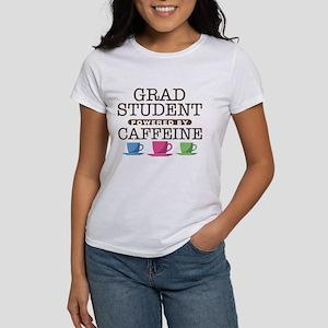 Grad Student Powered by Caffeine Women's T-Shirt