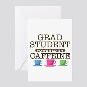 Grad Student Powered by Caffeine Greeting Card