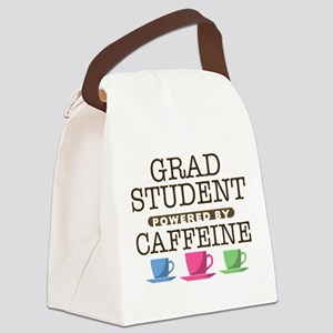 Grad Student Powered by Caffeine Canvas Lunch Bag