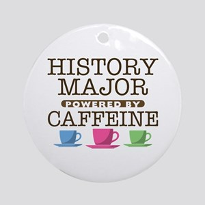 History Major Powered by Caffeine Round Ornament