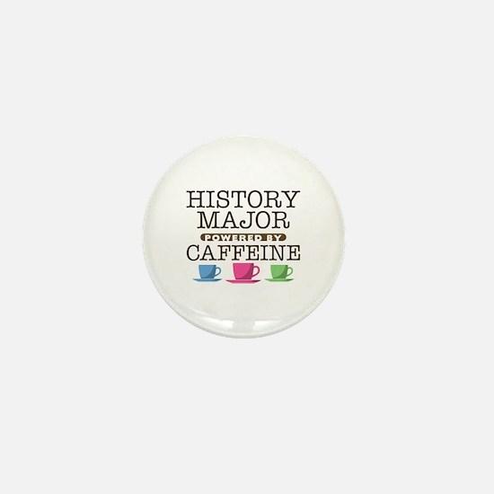 History Major Powered by Caffeine Mini Button