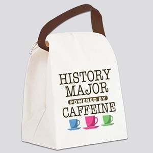 History Major Powered by Caffeine Canvas Lunch Bag