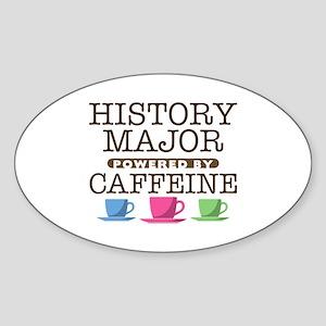 History Major Powered by Caffeine Oval Sticker