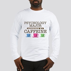 Psychology Major Powered by Caffeine Long Sleeve T