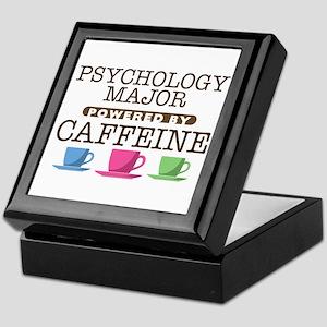 Psychology Major Powered by Caffeine Keepsake Box