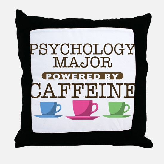 Psychology Major Powered by Caffeine Throw Pillow