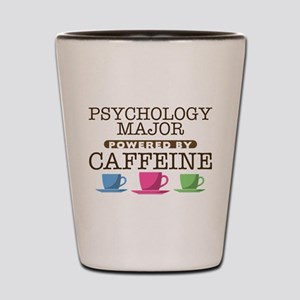 Psychology Major Powered by Caffeine Shot Glass