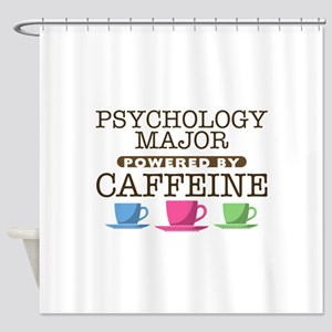 Psychology Major Powered by Caffeine Shower Curtai