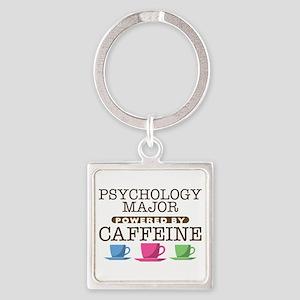 Psychology Major Powered by Caffeine Square Keycha