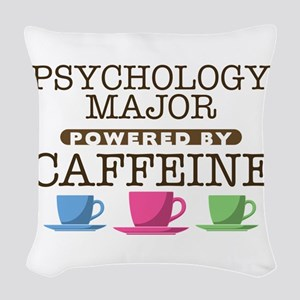 Psychology Major Powered by Caffeine Woven Throw P