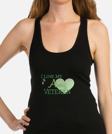 Funny Soldiers wife Racerback Tank Top