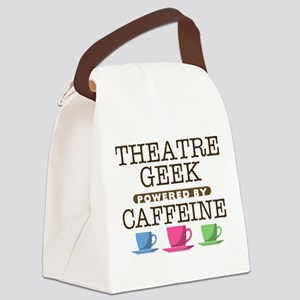 Theatre Geek Powered by Caffeine Canvas Lunch Bag