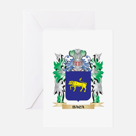 Baca Coat of Arms - Family Crest Greeting Cards