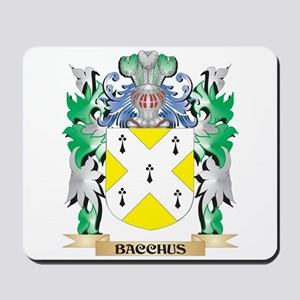 Bacchus Coat of Arms - Family Crest Mousepad