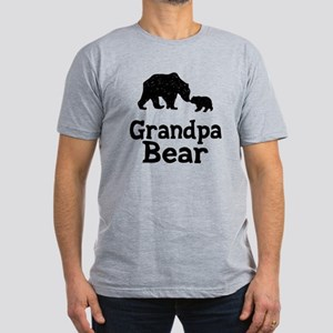 Grandpa Bear Men's Fitted T-Shirt (dark)