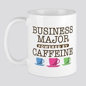 Business Major Powered by Caffeine Mug
