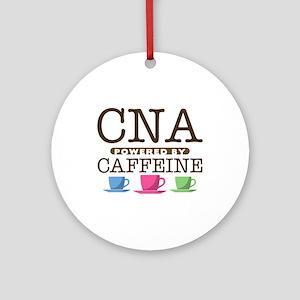 CNA Powered by Caffeine Round Ornament
