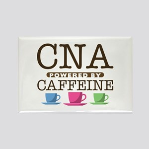 CNA Powered by Caffeine Rectangle Magnet