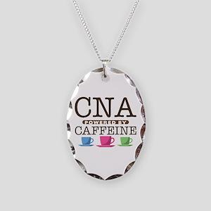 CNA Powered by Caffeine Necklace Oval Charm