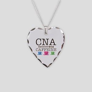 CNA Powered by Caffeine Necklace Heart Charm