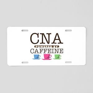 CNA Powered by Caffeine Aluminum License Plate